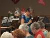 Judy Hamilton leading the ladies in prayer